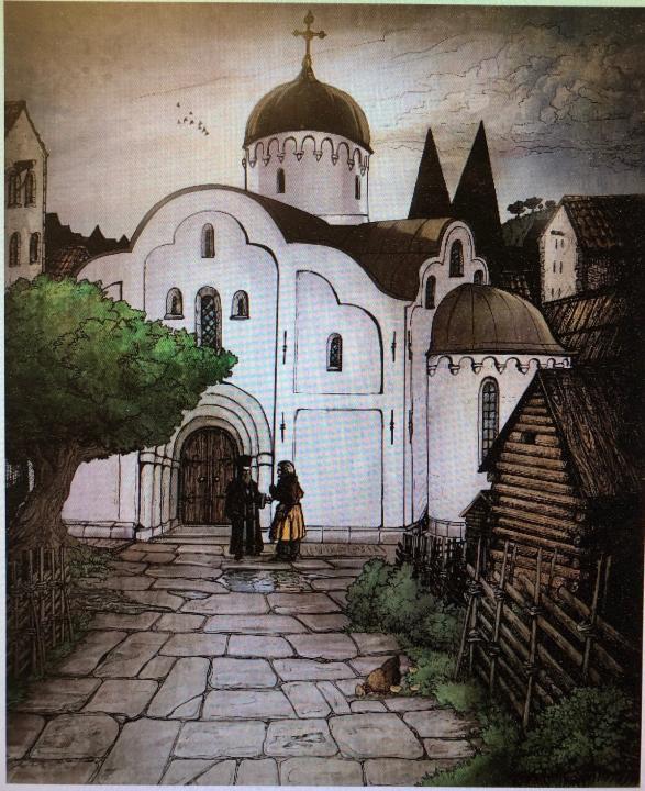 Ryska kyrkan, en illustration av Silvy Sstrand.